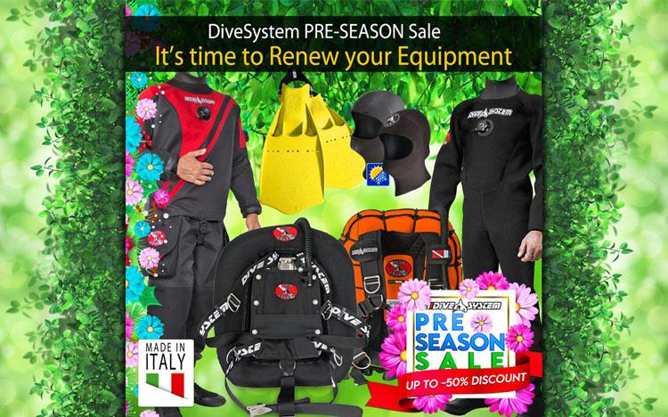 DiveSystem Pre Season Sale