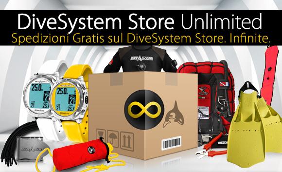 Nuovo DiveSystem Store Unlimited: Tutte le spedizioni che vuoi. Gratis*