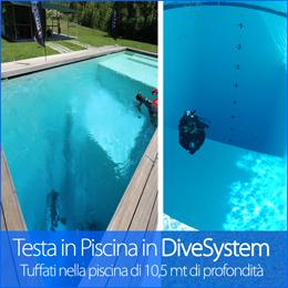 Testa i prodotti DiveSystem nelle piscina aziendale